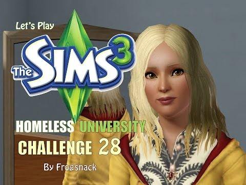 Sims 3 Let's Play Homeless University Ep 28 The Private Wedding