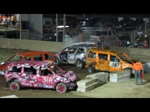 2016 Mini Vans Demolition Derby in Greenwich NY Washington County Fair