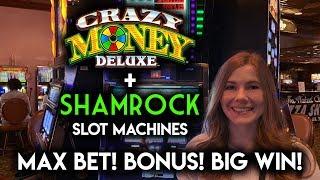 SHAMROCK! Slot Machine! BIG WIN BONUS! Progressive WON!!