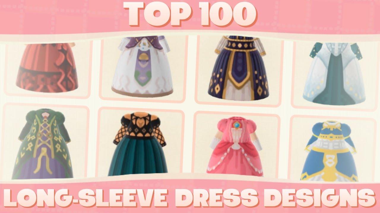 Top 100 Custom Long Sleeve Dress Designs For Animal Crossing New Horizons Youtube