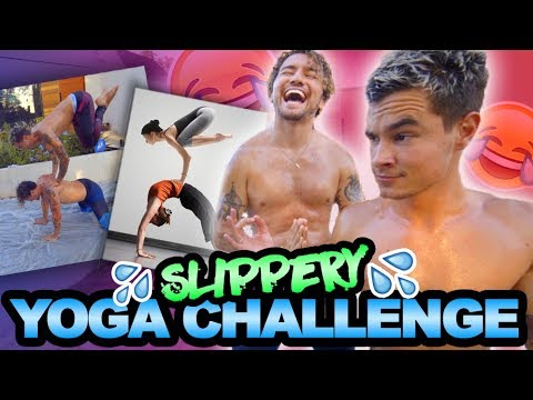 WET AND WILD YOGA CHALLENGE (COVERED IN BABY OIL)