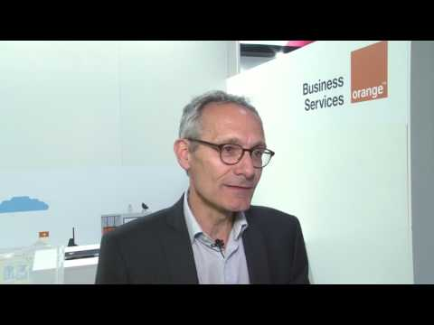 Interview with the head of Orange Business Services, Thierry Bonhomme, at Hannover Messe