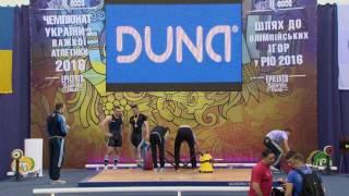 Тяжелая атлетика. Чемпионат Украины-2016. Мужчины, до 105 кг, группа Б. Городок, Хмельницкая область