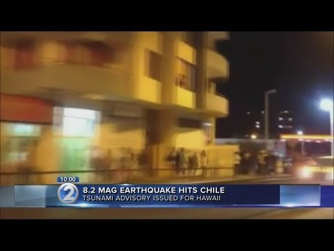 PTWC issues tsunami advisory after Chile earthquake