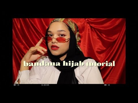 Bandana Hijab Tutorial (double Scarf Style)