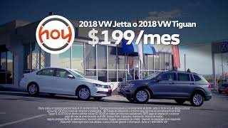 Hoy Volkswagen $199/ mes Jetta y Tiguan March 2018 Especial