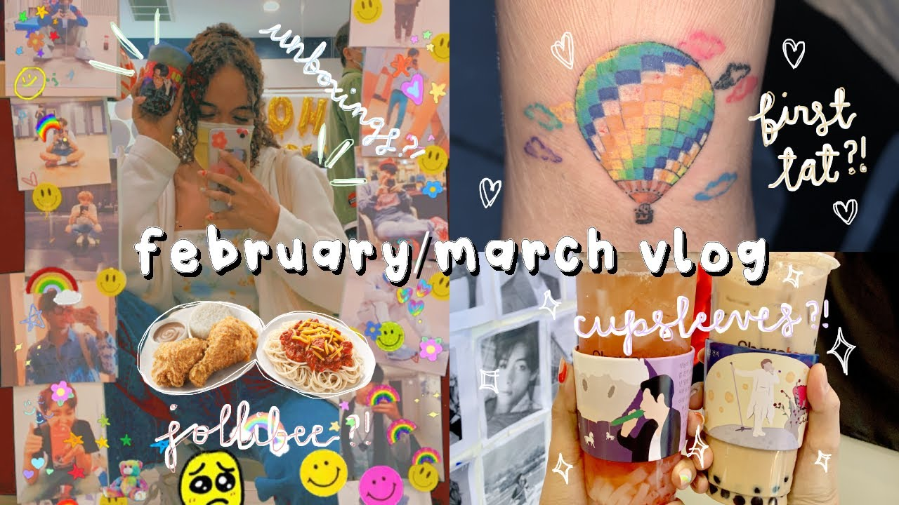 tats, cupsleeves, & more, oh my! (´ ꒳` )   february/march vlog