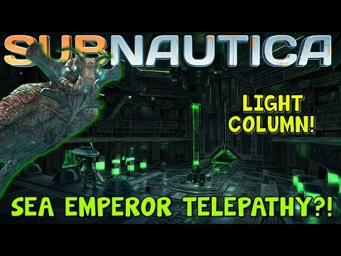 SEA EMPEROR TELEPATHY?! + PRECURSOR LIGHT COLUMN! | Subnautica News