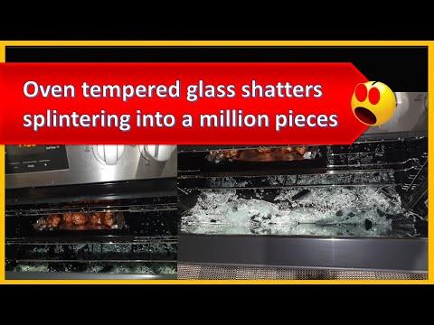 Oven door glass explodes