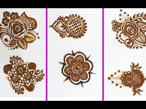 6 New Mehndi designs for Beginners Step by Step / BeautyZing