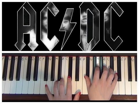 Back In Black | AC/DC | EASY Piano Tutorial
