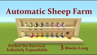 Minecraft Tutorial : Automatic Sheep farm Perfect for Survival & MORE