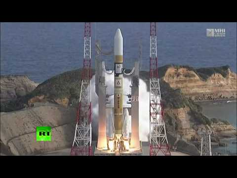 RAW: Rocket carrying Himarari-9 satellite launched from space center in Japan