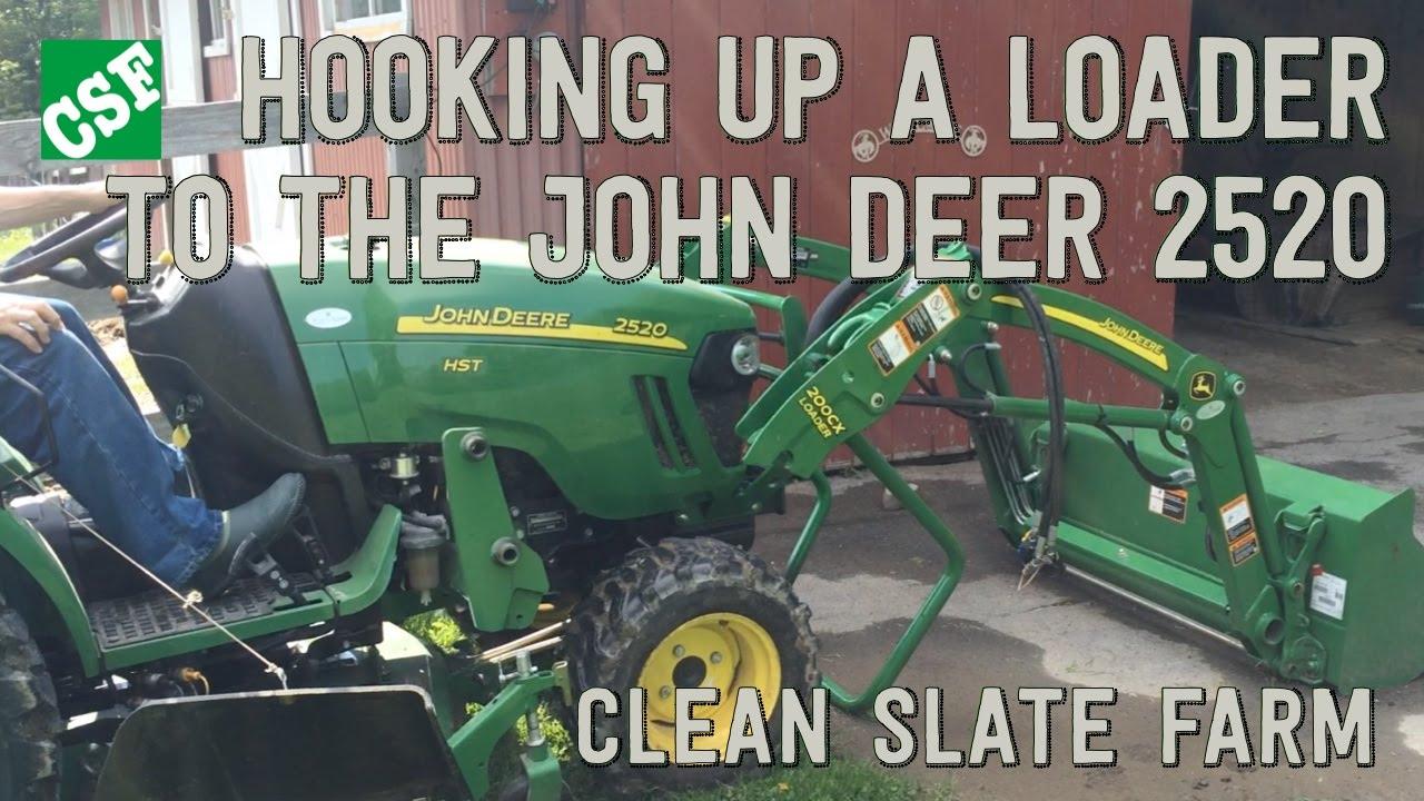 john deere 2520 loader installation