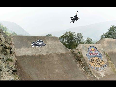BMX Contest on Massive Dirt Quarterpipe
