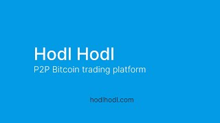 How to buy and sell Bitcoin on the Hodl Hodl trading platform