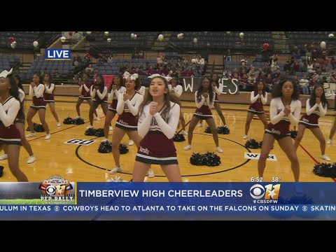 CBS 11 Pep Rally: Mansfield Timberview High School Cheerleaders