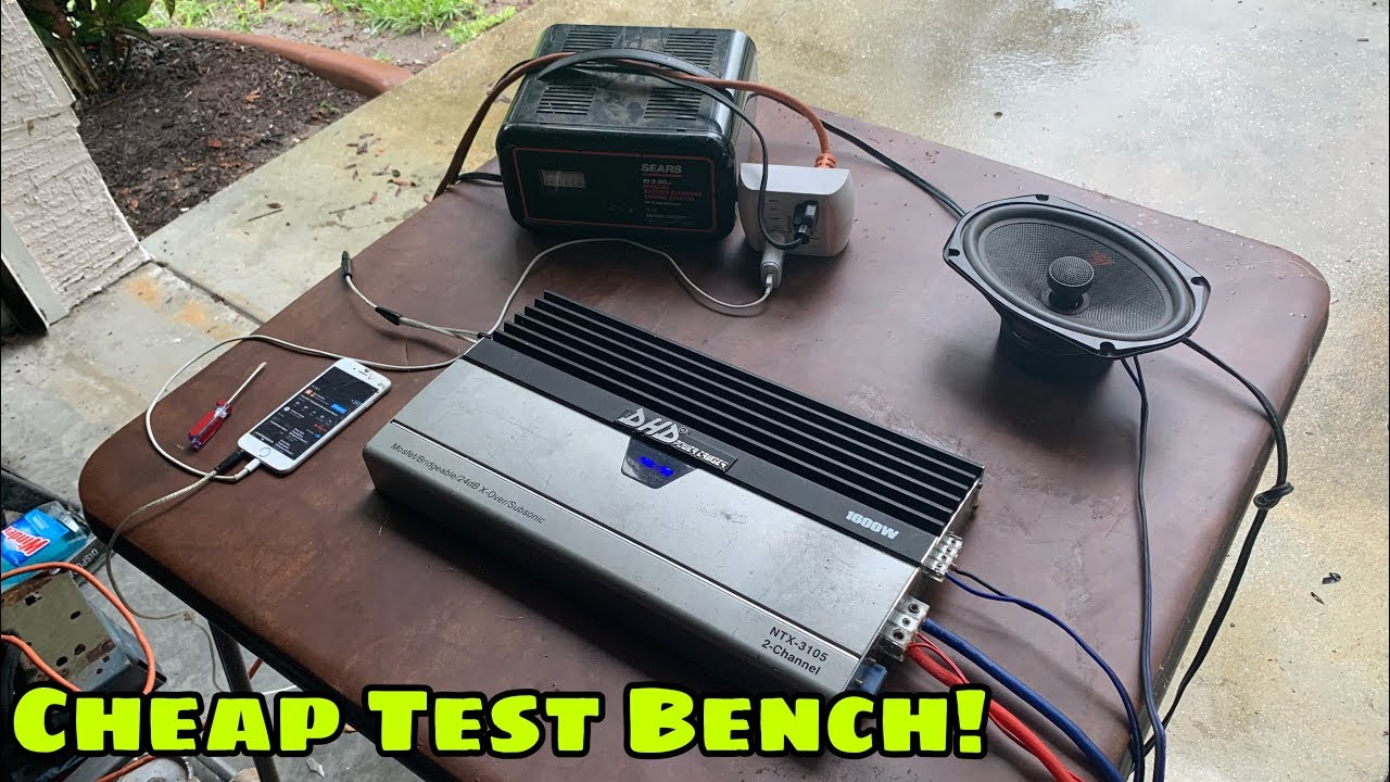 Cheap Test Bench Set Up For Car Amplifiers / How To: Testing Amps