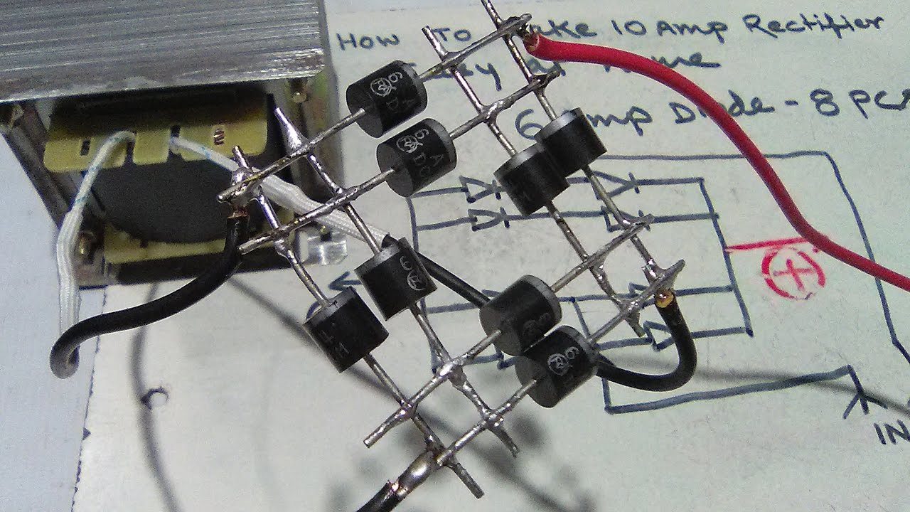 How To Make 10 Amp Rectifier Easy At Home Yt 45
