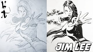 Jim Lee transforms my Psylocke sketch into a Masterpiece