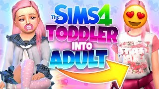 the Sims 4 Challenge Toddler to Adult - Из тоддлера во взрослого  CAS