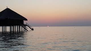 Красивый мальдивский закат)) Beautiful Maldivian sunset))