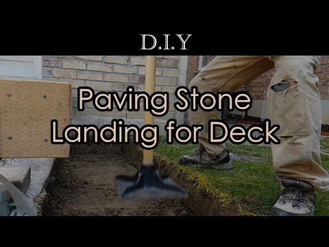 DIY Deck (Part 5): How to build paving stone landing for decks in just 1 day?