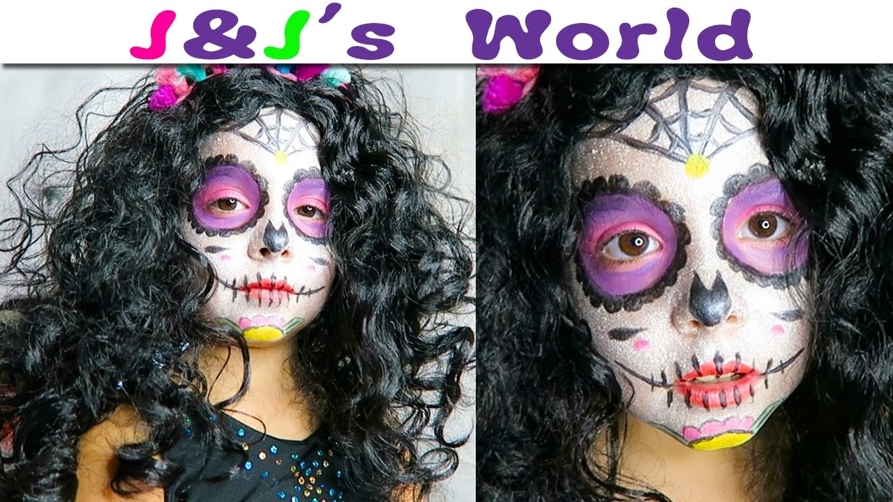halloween maquillage facile sugar skull dia de los muertos calavera makeup halloween. Black Bedroom Furniture Sets. Home Design Ideas