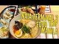 NAIA Terminal 3 Food Trip: King Men Ramen Kopi Roti Food Hall Shops Walking Tour Manila