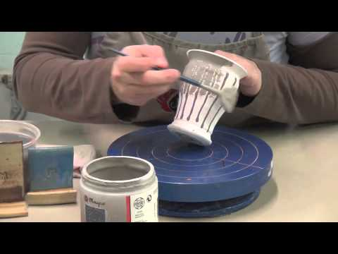 Two Glaze Combination With Mayco S Stoneware Glazes Youtube