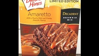 Duncan Hines Amaretto Decadent Brownie Mix Preparation & Review