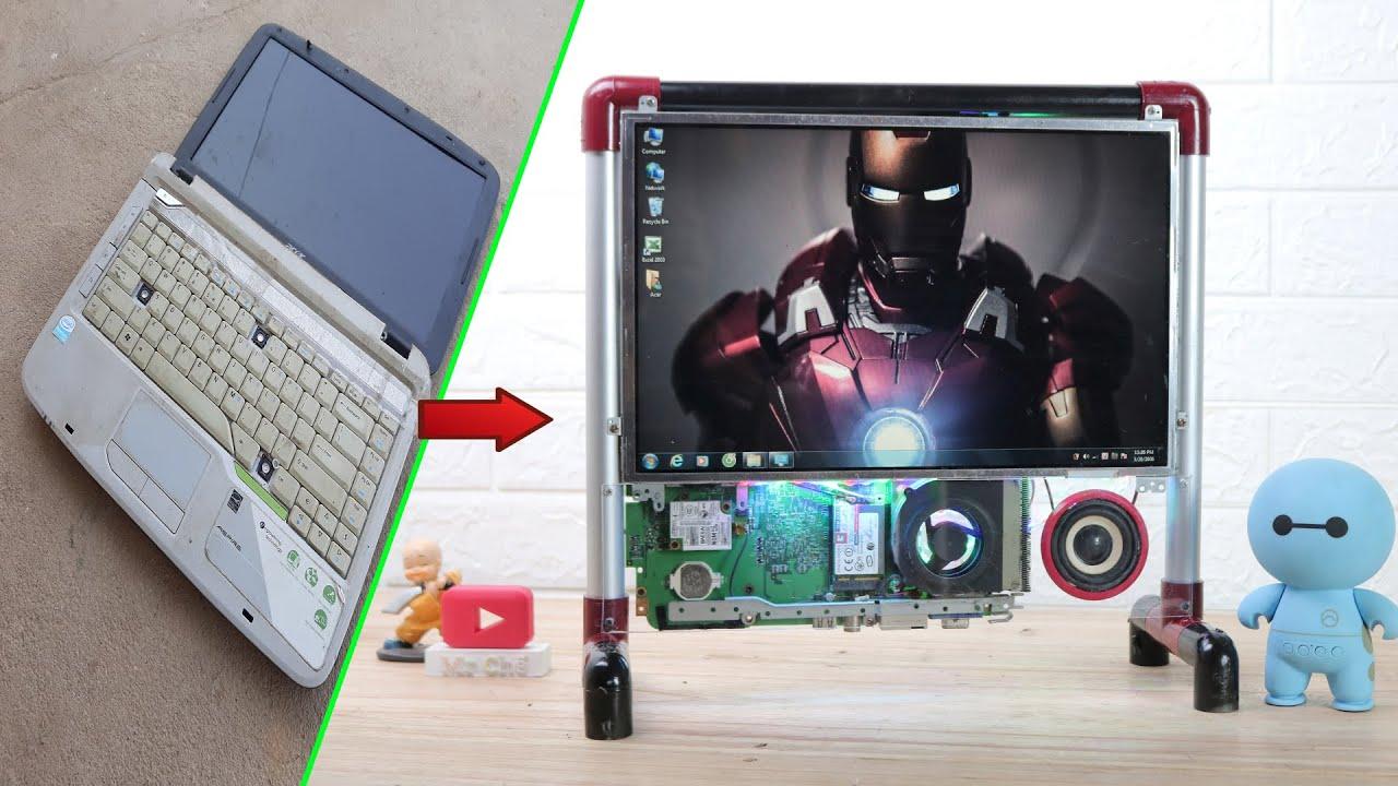 Chế Máy Tính PC Mini Từ Laptop Cũ Hỏng Cực Đẹp