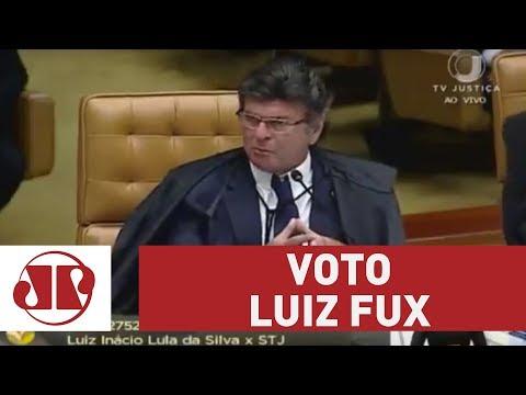 Confira o voto do ministro Luiz Fux no julgamento do HC de Lula