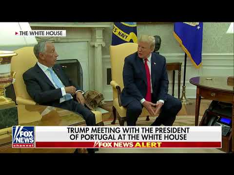 Trump Jokes to Portugal's President About Cristiano Ronaldo Running Against Him