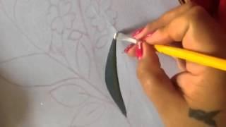 Pintura en tela hoja de cenefa de toalla con cony # 2