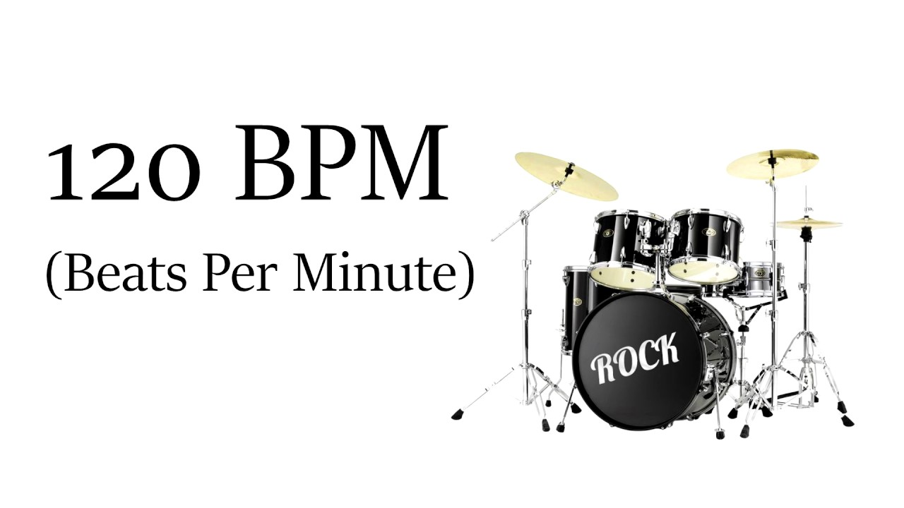 120 BPM Simple Rock Drum Beat (Straight Beat - Drum Loop Track 120 Beats  Per Minute)