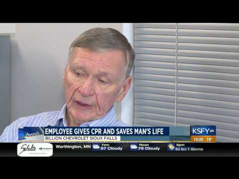 Billion Chevrolet Employee Gives CPR And Saves Manu0027s Life   Medical Minute