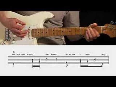 pink floyd time guitar lesson youtube. Black Bedroom Furniture Sets. Home Design Ideas