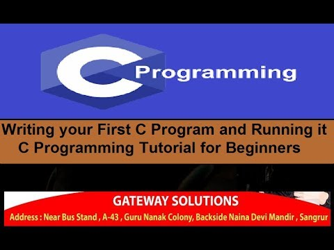 Writing your First C Program and Running it   C Programming Tutorial for Beginners thumbnail