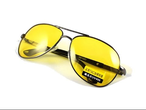 online aviator sunglasses  High Definition HD Night Vision Driving Aviator Sunglasses in ...