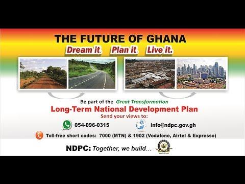 Ghana's 40 year development plan; discussing new digital technologies