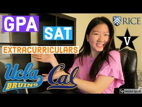 STATS That Helped Me Get Into UCLA, Berkeley, Vanderbilt, Rice, USC | College Application Tips