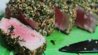 Seared Furikake Ahi Tuna Steaks