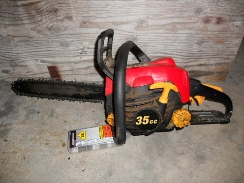 Replace A Chainsaw Blade Homelite 14 Chainsaw 52 Link Chain Youtube