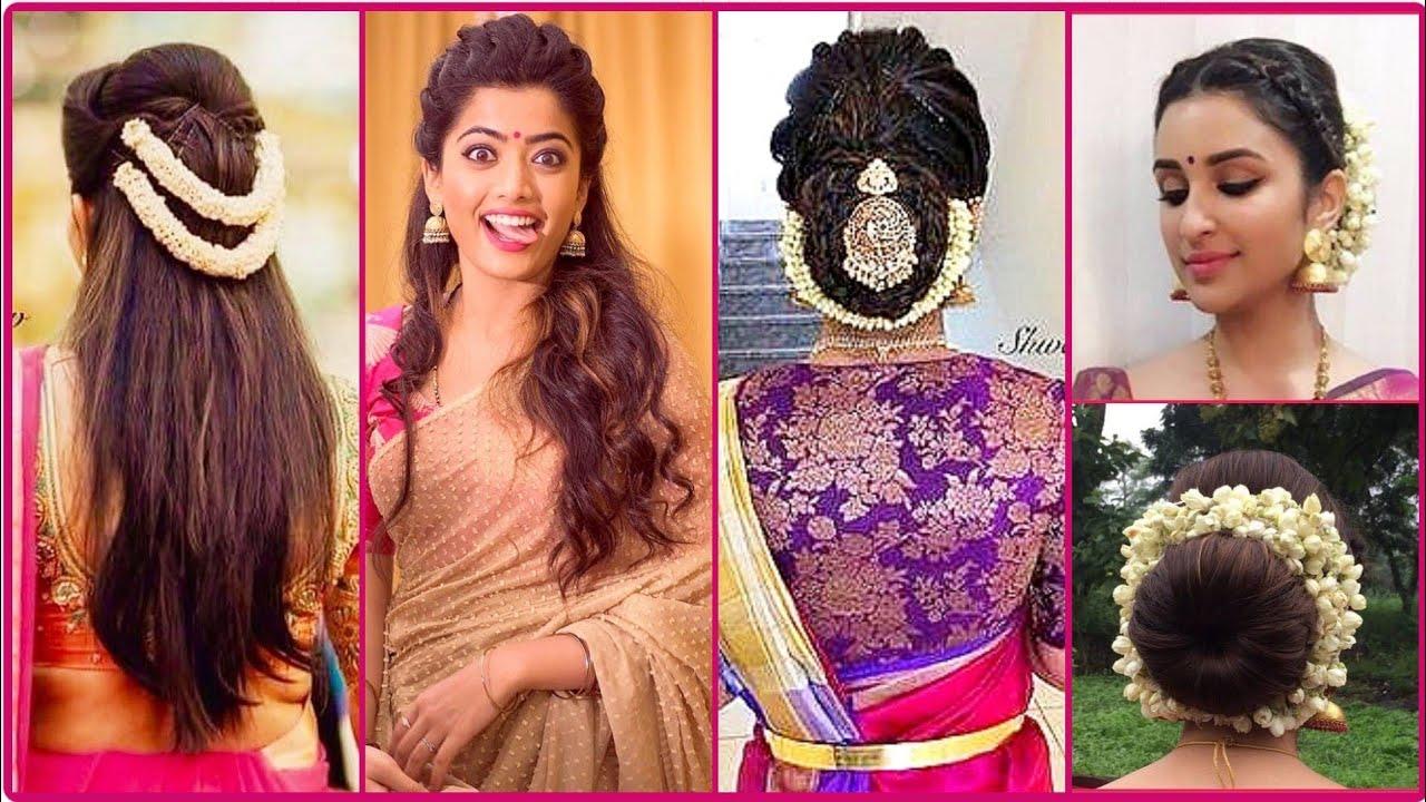 #hairstyle #bun #ethnic इस दिवाली सारी या Traditional Dress पे किजीएं ये  SIMPLE Hairstyles