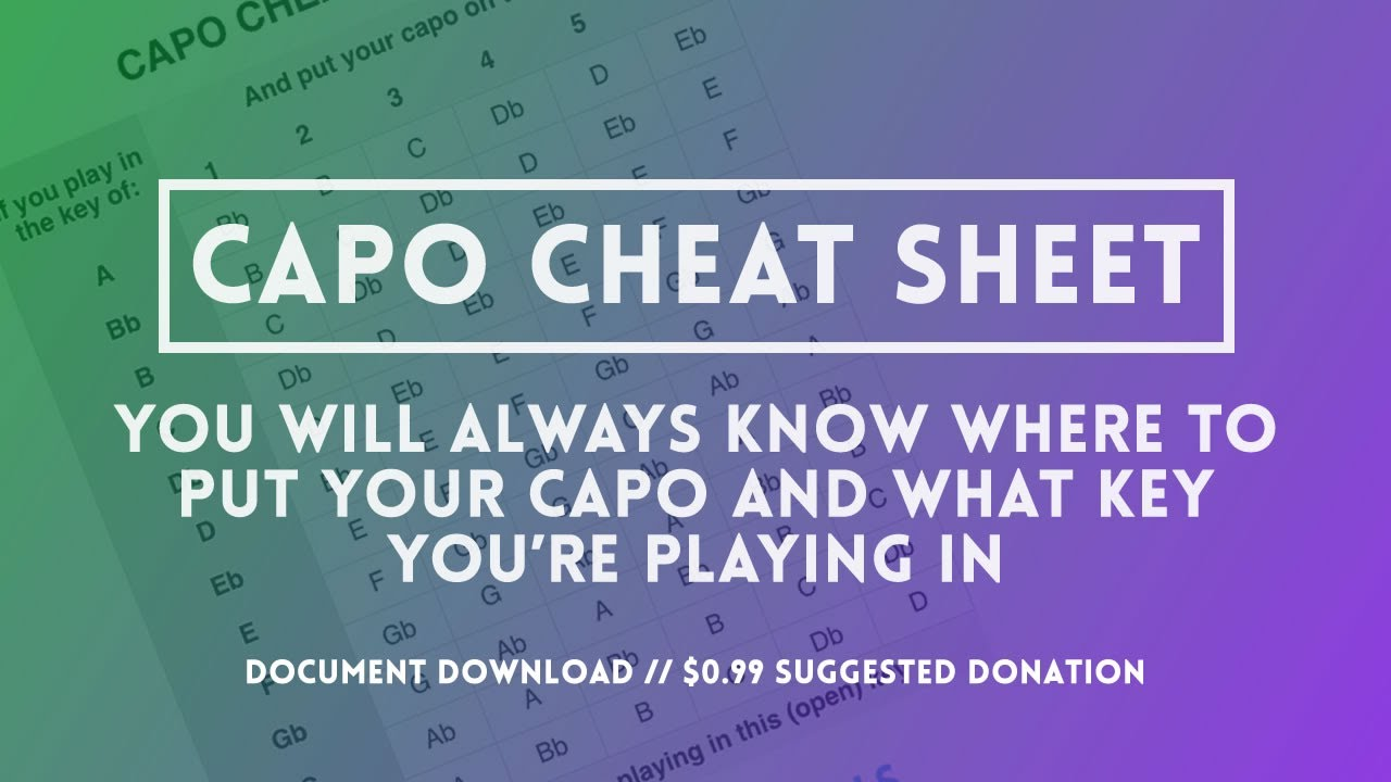Capos The Capo Cheat Sheet Youtube