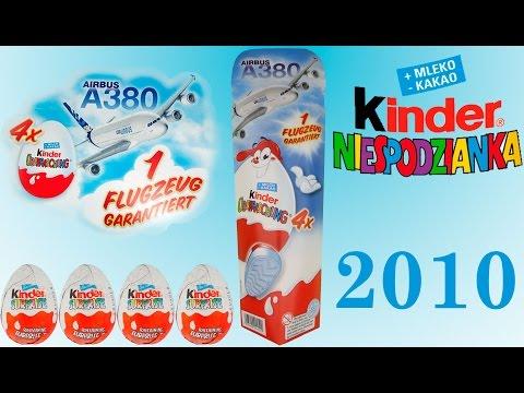 4 киндеры сюрпризы Самолеты колекцция 2010 года