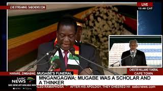Mugabe's funeral | Zimbabwe President Emmerson Mnangagwa addresses mourners at Mugabe funeral