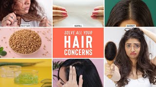 DIY Hair Masks To Solve Your Hair Concerns Hair Fall Frizzy Hair Dandruff Damaged Hair