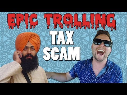 EPIC Trolling of a Tax Fraud Scammer (IRS phone scam)